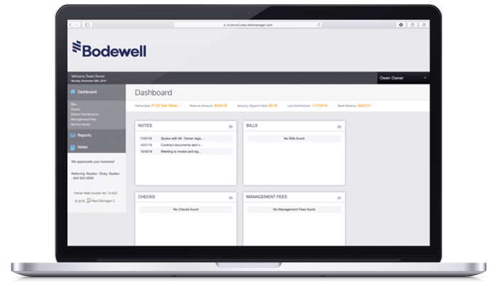 Online Bodewell Account